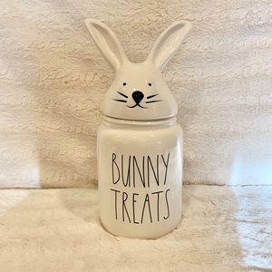 Rae Dunn Bunny Treats Canister- bunny topper